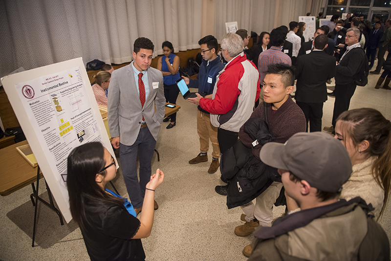 Instrumented Beehive Senior Design Competition team, winners of the popular vote