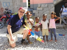 Alumnus Martin Ross in Haiti