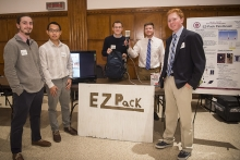 EZ Pack Paintbrush Senior Design Competition team, winners of the best semester project award