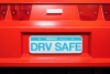 Faux license plate that reads drv safe